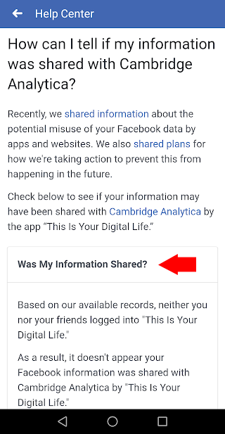 facebook app info was shared with cambridge analytica