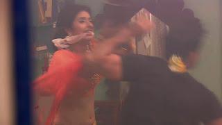 Charu Asopa in Saree Choli ghagra 3.jpg