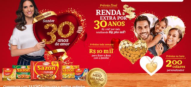 """Promoção """"Sazón 30 anos de Amor"""""""