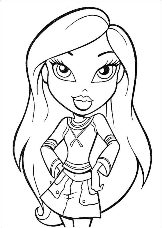 bratz yasmin coloring pages - photo #34