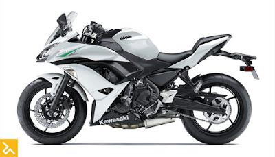 2017 Kawasaki Ninja 650 ABS white pics