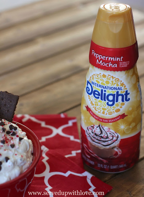 Peppermint Mocha Cheesecake Dip recipe from Served Up With Love
