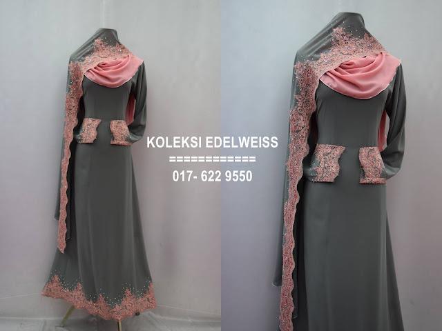 Baju kahwin Baju Tunang NIkah Simple Warna Kelabu