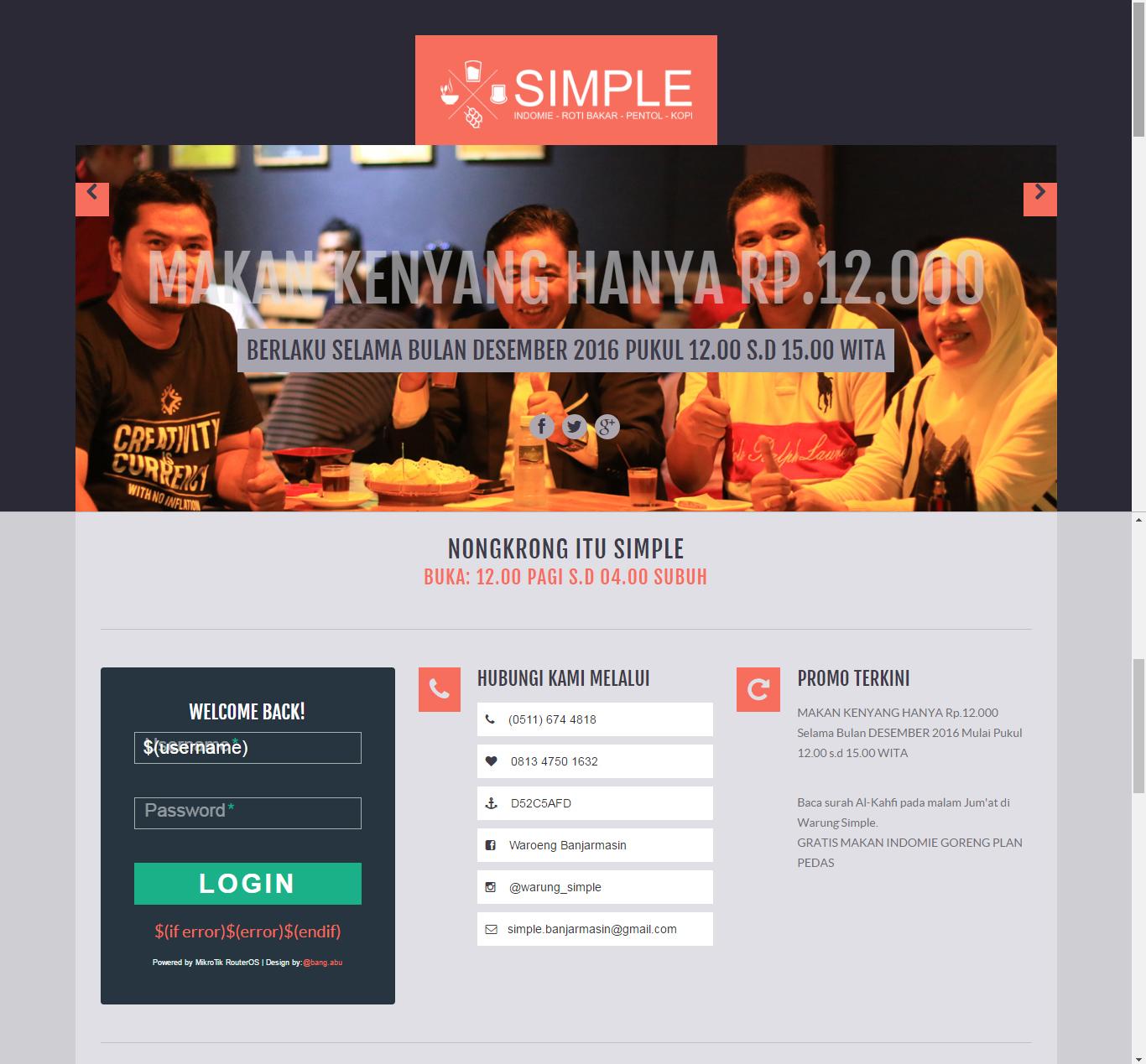 Chord Lagu Nike Ardila Tak Bersuara: Template Login Mikrotik Simple Responsive Portal