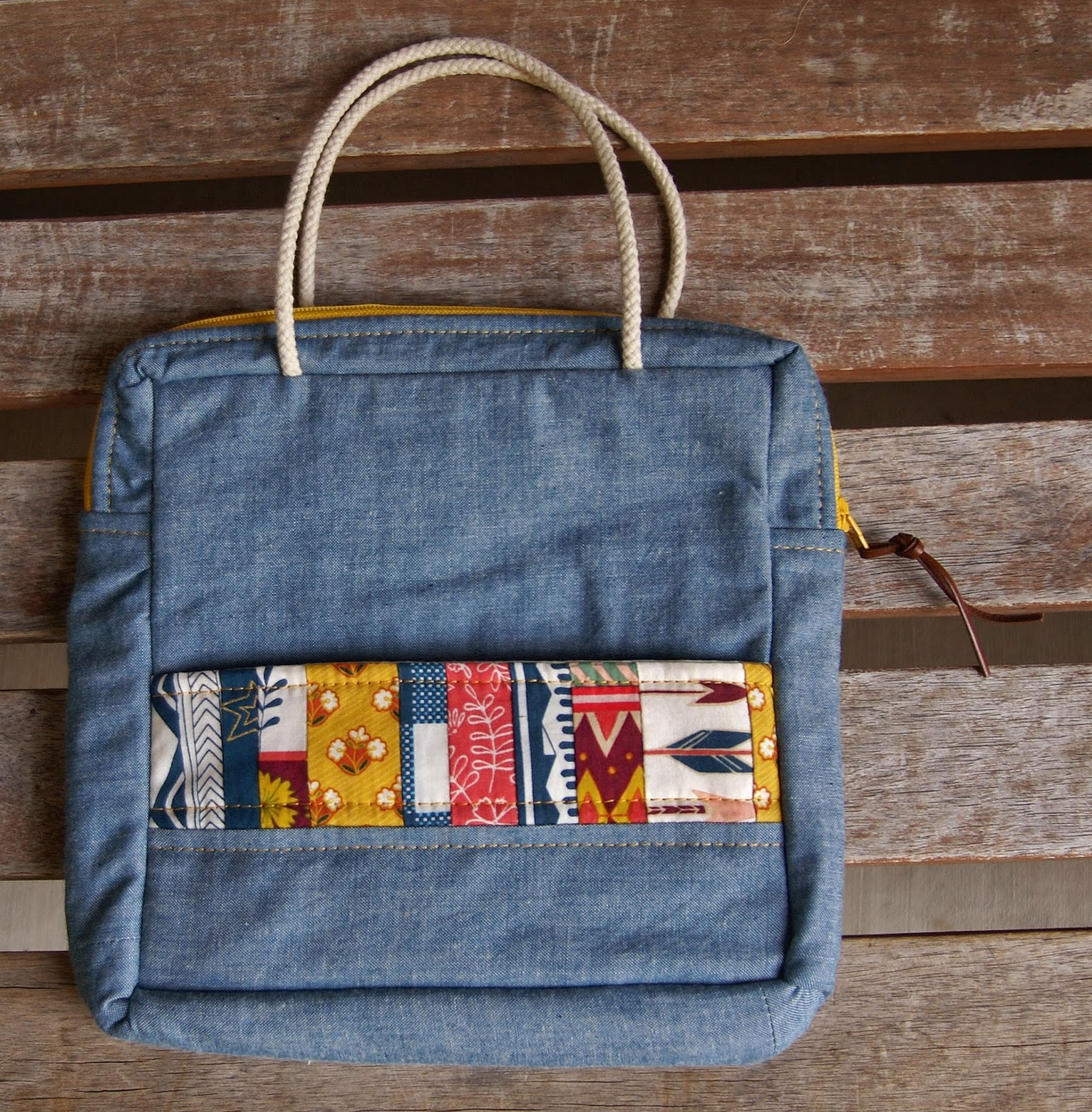 Wild and Free Mosaic Bag by Heidi Staples of Fabric Mutt