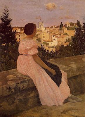 Frederic Bazille - La robe rose,1864.