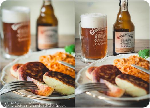 Kartoffelplätzchen mit Paprikakraut