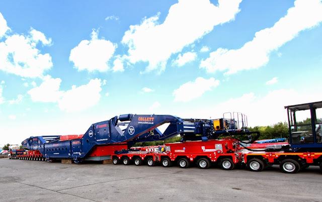 Maior viga modular de transporte do mundo