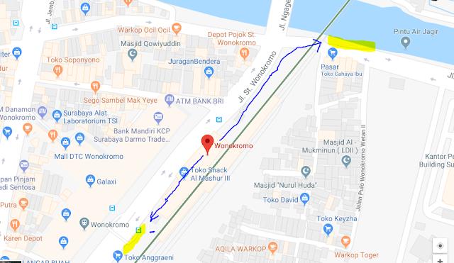 Titik Jemput Penumpang Ojek Online Gojek-Grab di Stasiun Wonokromo Surabaya