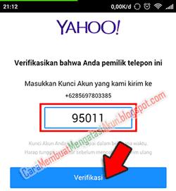 Buat email yahoo lewat hp - verifikasi nomor