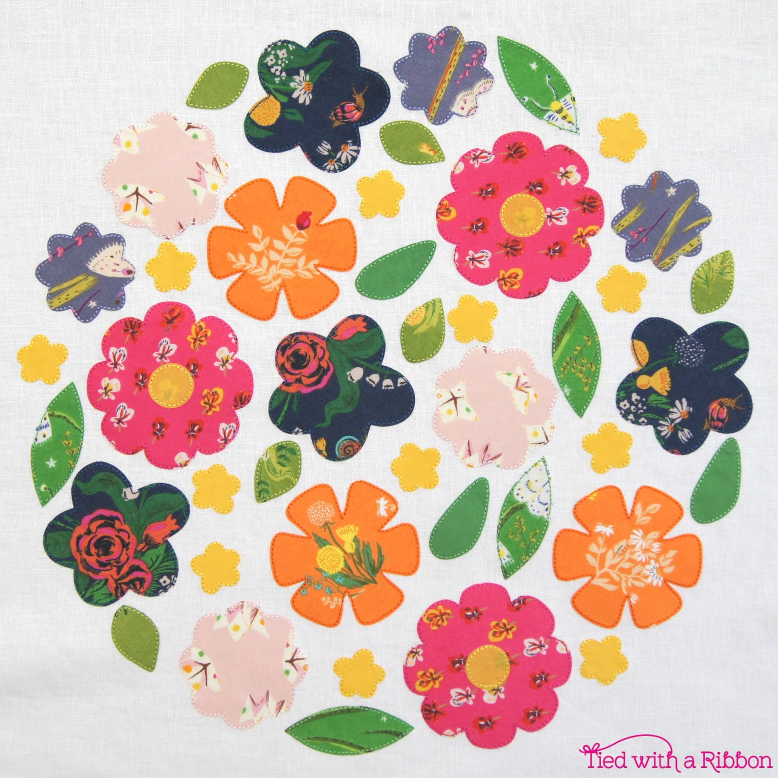 Tied With A Ribbon Blooms Garden Quilt A Free Pattern