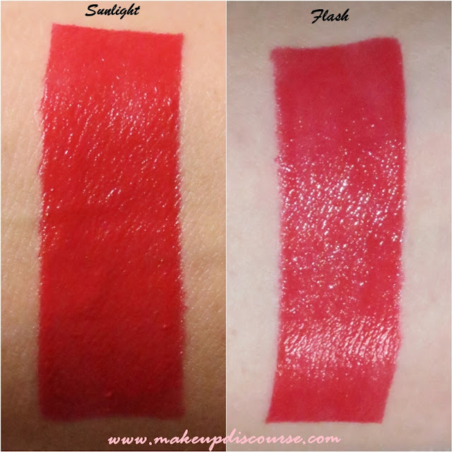 Essence XXXL Longlasting Lipgloss Matt Effect in Silky Red Swatches in India