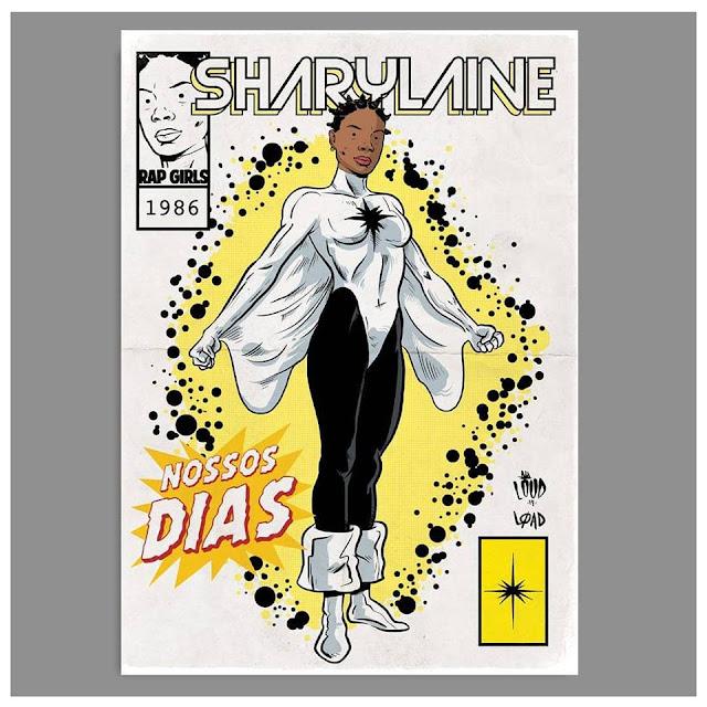 Rap em Quadrinhos - Sharylaine é retratada como Capitã Marvel (Mônica Rambeau)