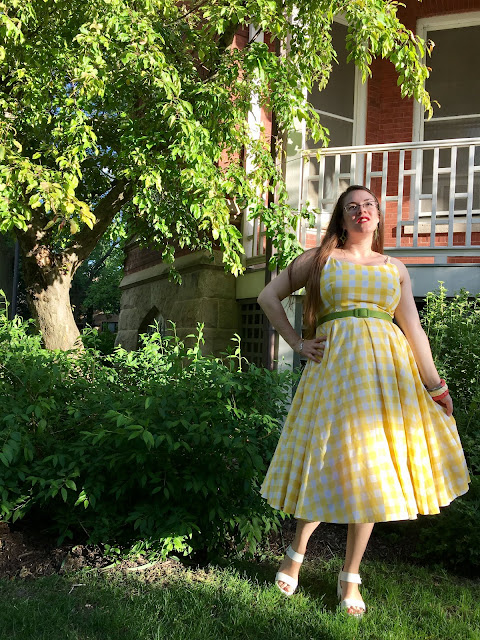 Pretty Dress Company Priscilla yellow gingham