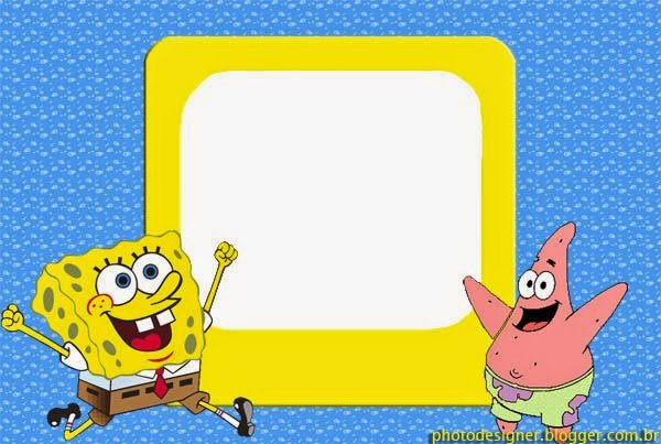 SpongeBob SquarePants Free Printable Cards Or Invitations