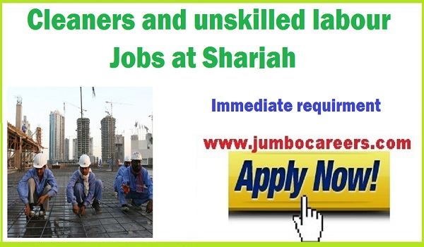 Cleaner jobs at Sharjah, Jobs for unskilled labours, Facility management jobs,
