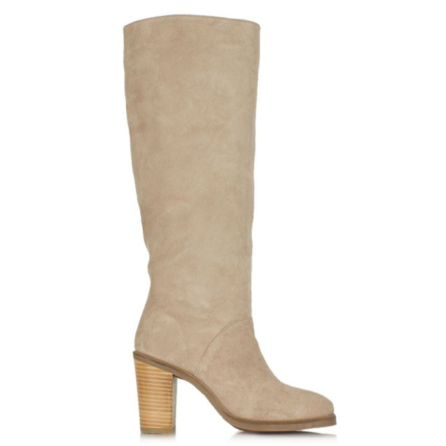 knee high block heel boots