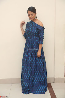 Anchor Anasuya in a Blue Gown at Jai Lava Kusa Trailer Launch ~  Exclusive Celebrities Galleries 007.JPG