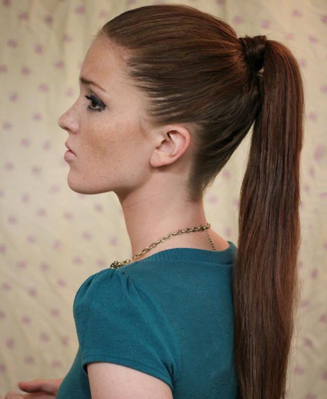 Elegante peinados cola alta Imagen de tutoriales de color de pelo - La moda en tu cabello: Coleta de caballo alta - Peinados ...