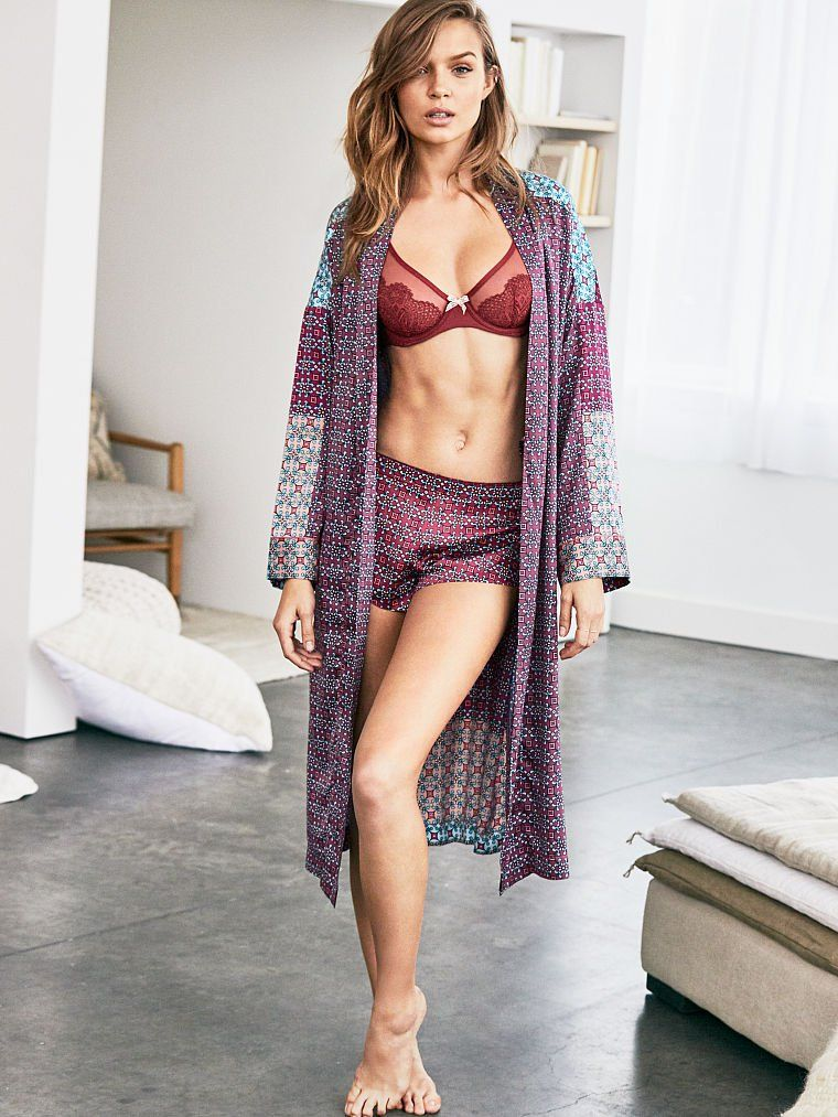 Josephine Skriver models new Victoria's Secret designs