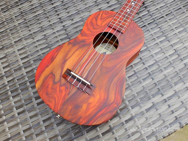 Cocobolo tenor ukulele body