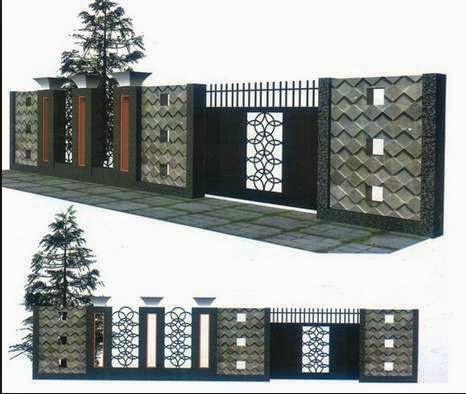 Gambar Contoh Desain Bentuk Pagar  Minimalis Gambar Contoh Desain Bentuk Pagar  Minimalis