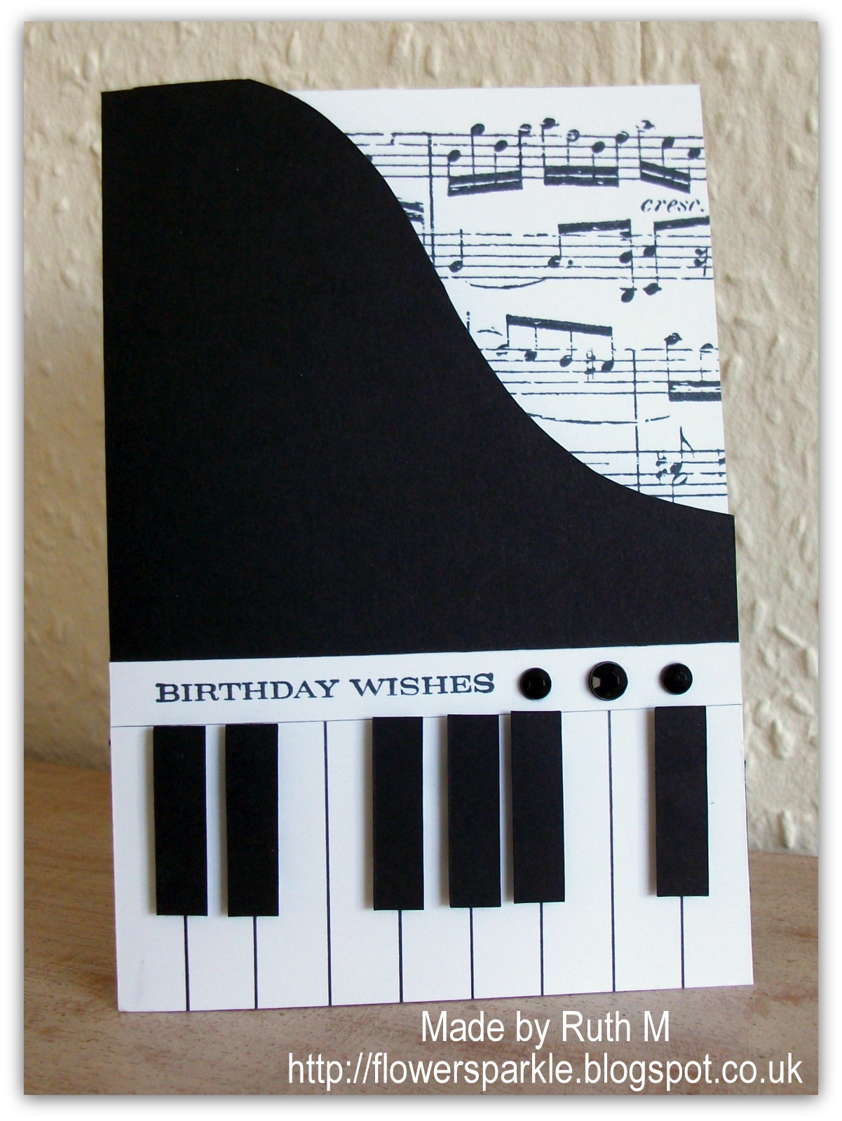 Flower sparkle piano birthday wishes card for alan flower sparkle bookmarktalkfo Gallery