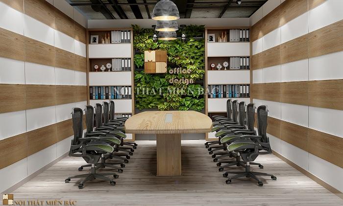 Thiết kế nội thất phòng họp cao cấp với gam màu hiện đại