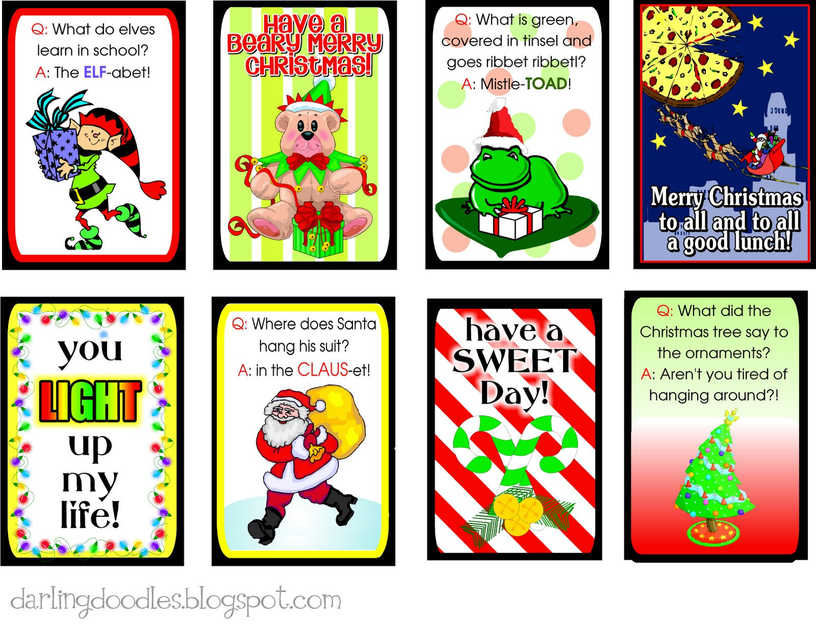 9 Free Printable Christmas Lunchbox Notes Kids Will Love ... |Christmas Lunch Box Notes