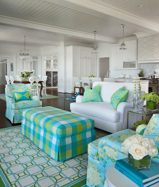 Eye For Design: Decorating With The Lime/Turquoise Combination