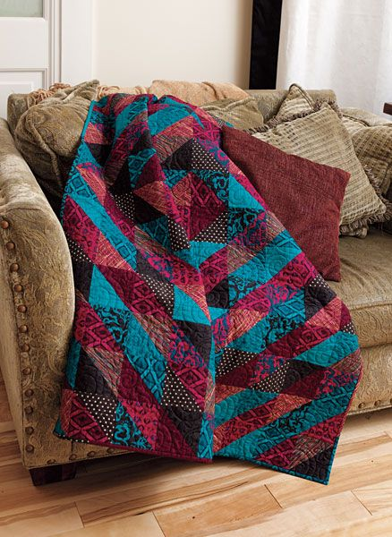 Half-Square Triangle Fun Quilt Free Pattern