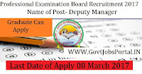 Professional Examination Board Recruitment 2017– Lab Assistant