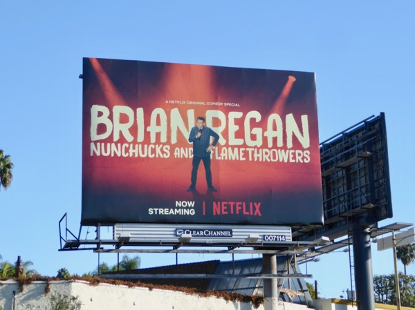 Brian Regan Nunchuks Flamethrowers billboard