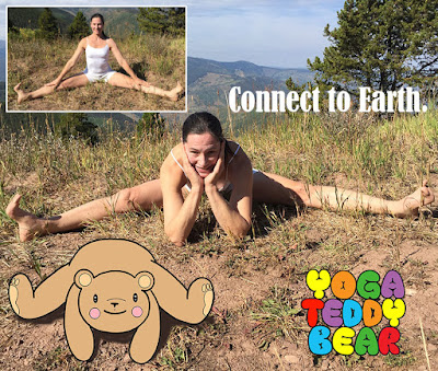 Earth Day, earth, connect, yogateddybear, yogateddybeartv, yoga teddy bear, yoga, yoga education, side splits, side straddle, seated wide angle pose, samakonasana, Vail, Colorado