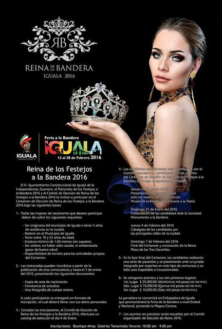 convocatoria Reina Feria Iguala 2016