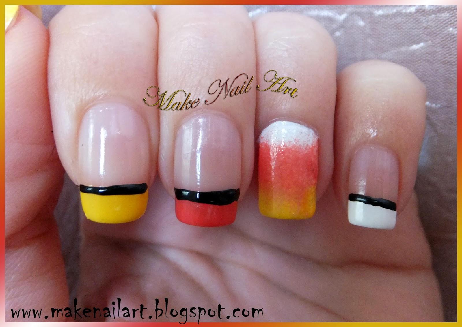 Make Nail Art Candy Corn Nail Art Tutorial For Halloween