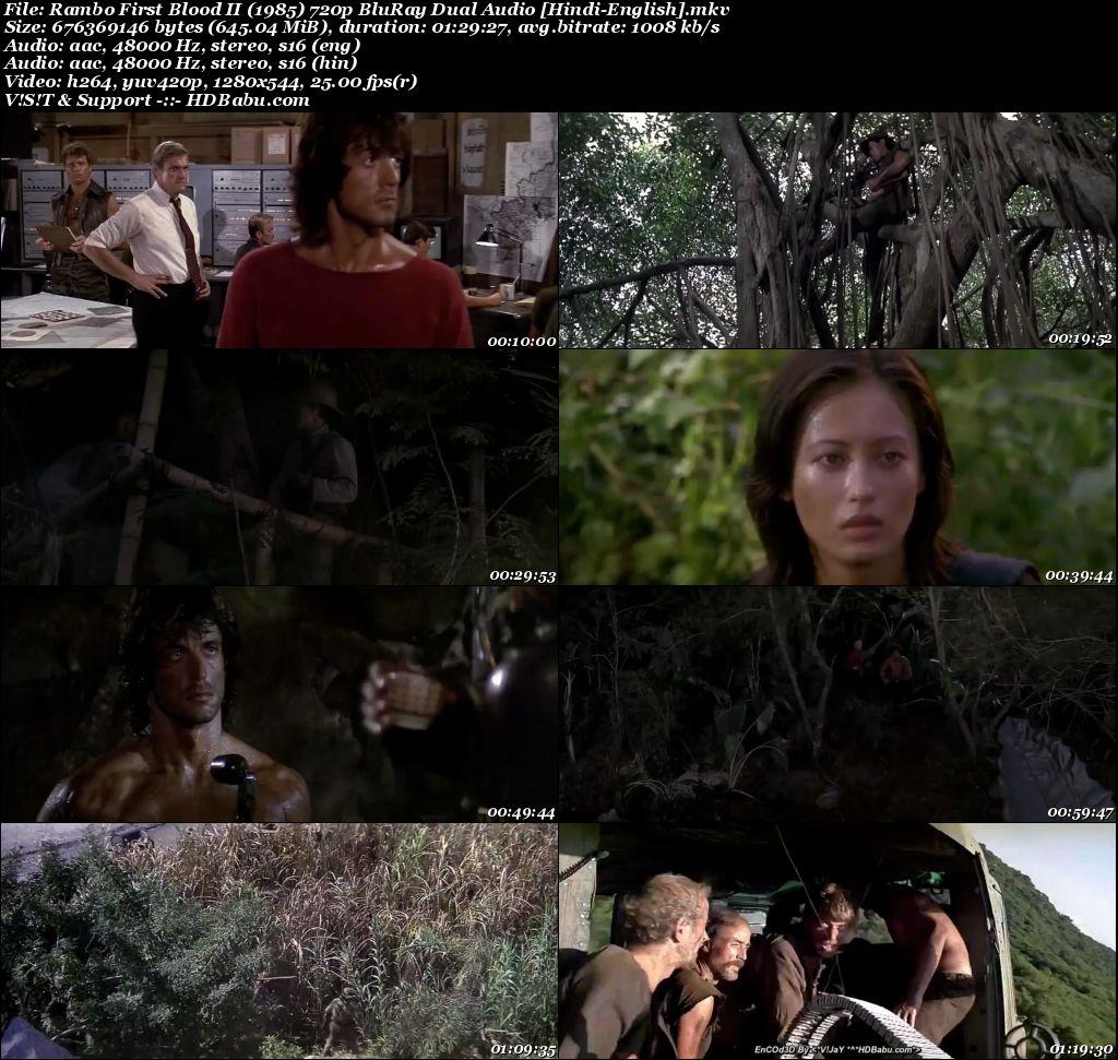Rambo 1985 Hindi Dual Audio 720p Blu-Ray 800MB Screenshot