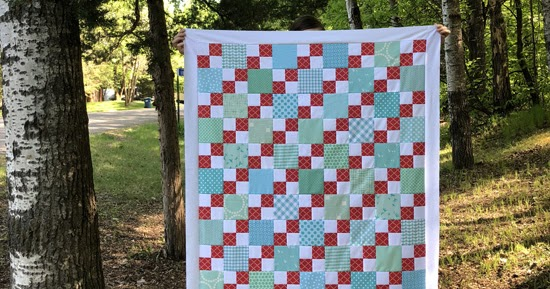 fast four patch quilt top