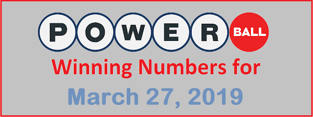 PowerBall Winning Numbers for Wednesday, 27 March 2019
