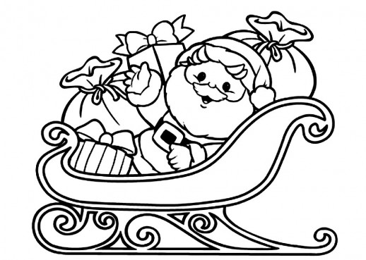 santa s sleigh coloring pages and his