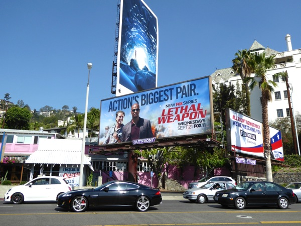 Lethal Weapon series premiere billboard