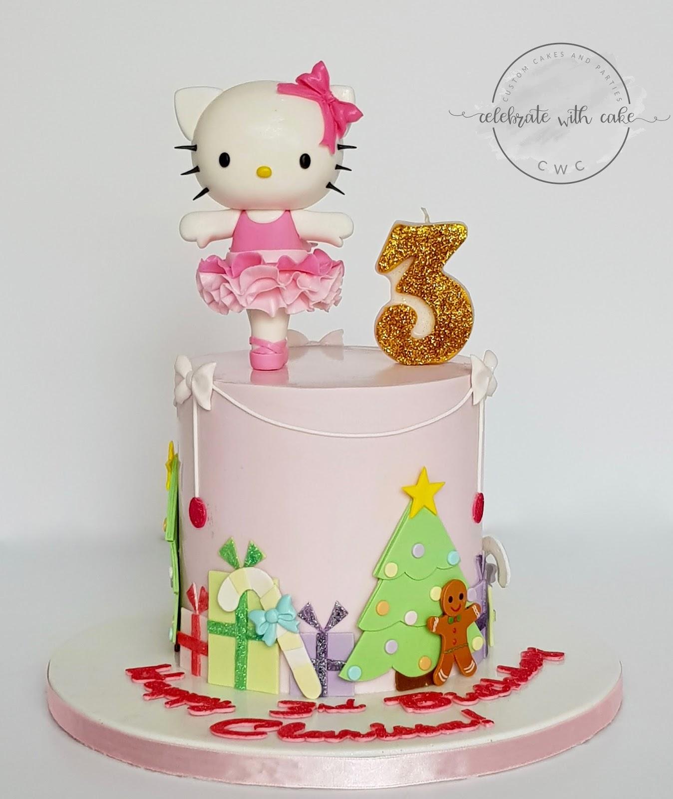 b79f63359 Hello Kitty Ballerina at Christmas Cake