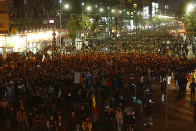 protest Romania gratiere psd government parliament against