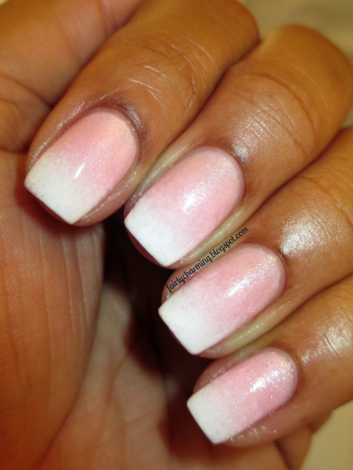 French Tip Nails: Fairly Charming: Nailed It's Faded French