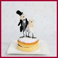 Pajaritos para tartas de boda