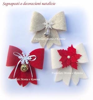 Segnaposto Natalizi Idee.Segnaposto Per Natale Decorazioni In Feltro O Panno Originali Fai