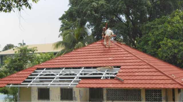 Baja Ringan Rangka Gording Reng Genteng Metal Bandung Jawa Barat Ukuran Sakura Roof Multi Surya Sky