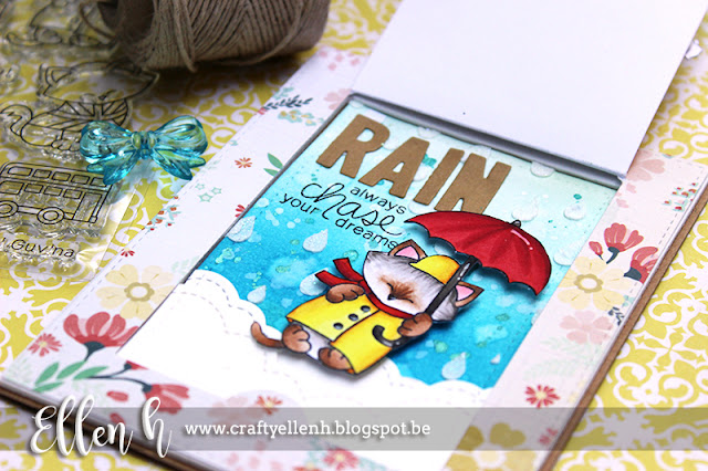 Interactive Kitty Sun or Rain card by Guest Designer Ellen Hax | Cat Stamps by Newton's Nook Designs #newtonsnook