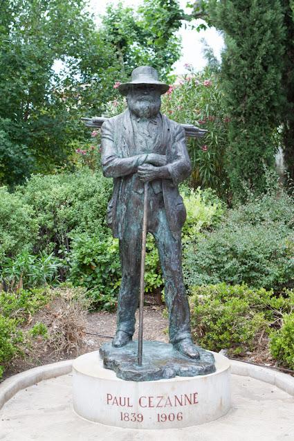 Aix-en-Provence-Statua di Cezanne