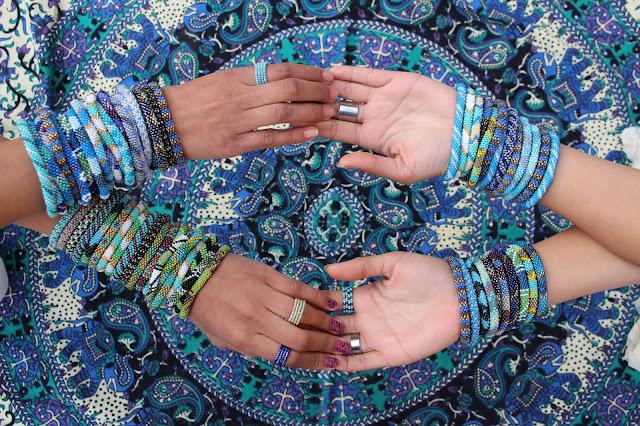 roll on glass bead bracelets